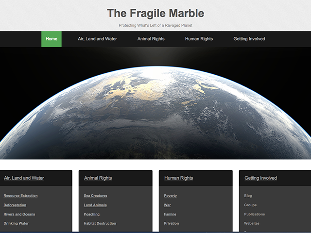 The Fragile Marble